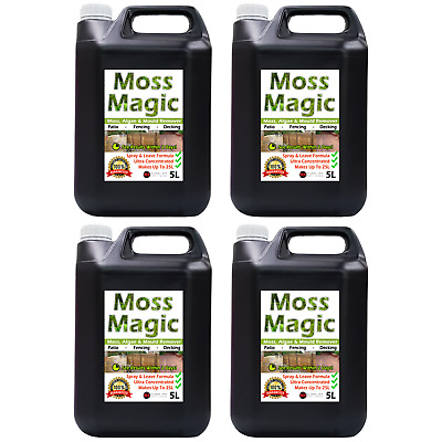 Patio Fencing Decking Moss Algae Mould Remover Cleaner Moss Magic