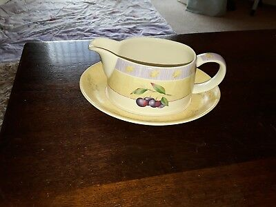 MARKS AND SPENCER WILD FRUITS GRAVY or SAUCE or CREAM BOAT / JUG and SAUCER