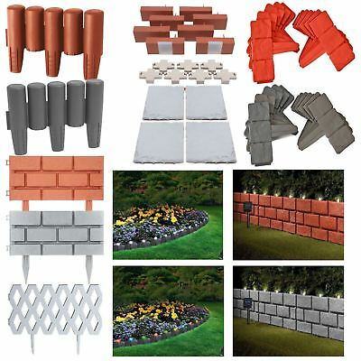 Flexible Garden Lawn Grass Edging Picket Border Panel Plastic Wall Path Fence