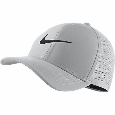 NEW 2019 Nike Aerobill Classic 99 Wolf Gray Black Fitted S M Hat  353d5669df77