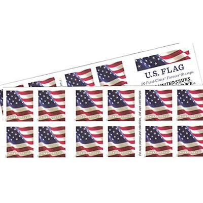 USPS US-Flag-Forever-Stamps-40 (Two Books Of 20) Packaging May Vary, Blue Red ""