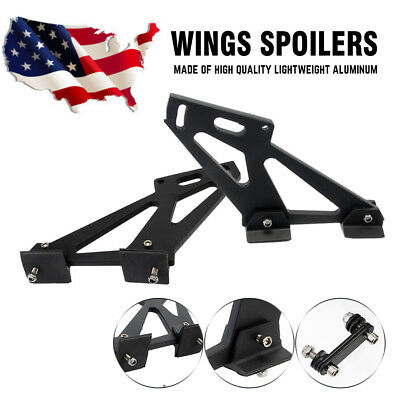"1 Pair 7"" Auto Car Rear Wing Racing Spoilers Lightweight Aluminum Tripod Bracket"
