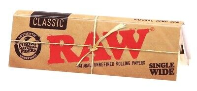 RAW SINGLE WIDE ROLLING PAPERS Buy 4@ Only $1.67/Pack! *USA SHIPPED*