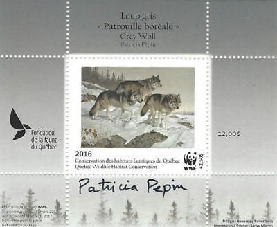 2016 Canada Quebec  Wildlife Habitat Conservation  -DQ83s signed  WWF    Mint NH