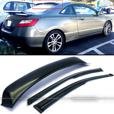 Painted H-Design Window Roof Spoilers for Honda Civic 10th Gen 2Dr Coupe 16+