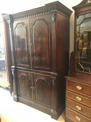 Baker Mahogany Entertainment Center for TV Antique Style Reproduction.