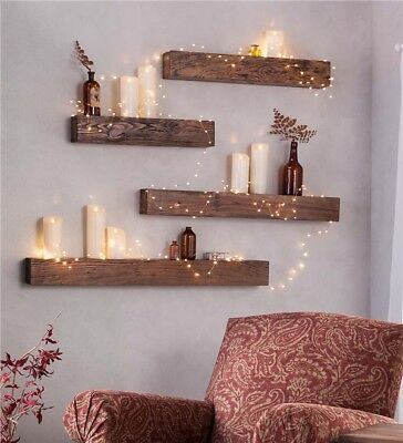 Handmade Bespoke rustic chunky floating wooden shelf/Mantel