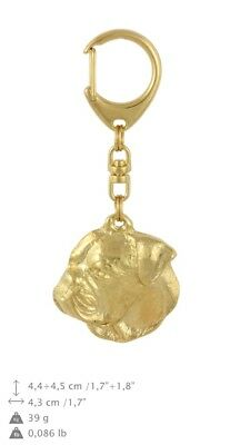 American Bulldog Golden Plated Key Ring, Solid Keychain USA 871