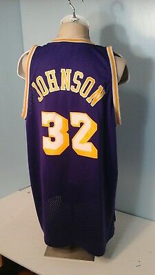 Magic Johnson L A Lakers Sewen Jersey Hardwood Classics Vintage Men Sz 2Xl 5de287943951