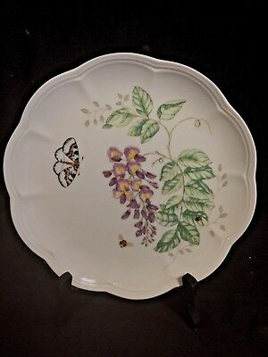 Lenox Butterfly Meadow Eastern Tailed Blue Accent Luncheon Plate, Mint