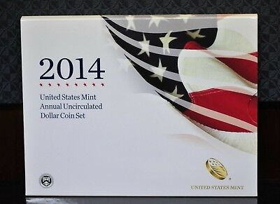 2014-W U.S. Mint Annual Uncirculated Dollar Coin Set w/Silver Eagle OGP [01DUD]