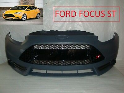 2013 2014 Ford Focus St Front Bumper Cover Grille Grill Fog Light