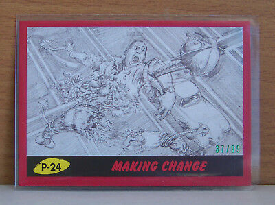 2017 Topps Mars Attacks The Revenge pencil art card P-24 Red 37/99 Making Change