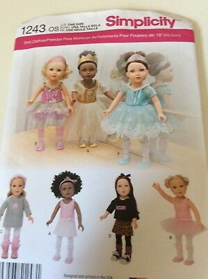 Simplicity Crafts 18 Doll Clothes Patterns Fits American Girl Doll