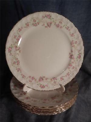 """6 Pope Gosser Florence 9-1/8"""" Luncheon Plates"""