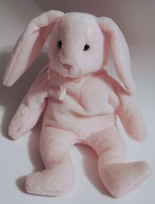 Pink Easter Bunny Hoppity Beanie Babies Retired1996 No Tag Pvc Pellets New