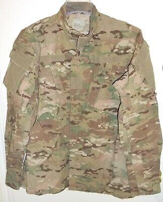 US Army Multicam FRACU Insect Flame Resistant FR OCP Jacket Medium X-Long M/XL