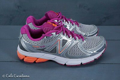 a9fd88858712 VGC! New Balance 680 v2 Womens Size 7.5 Running Shoes Gray Fuchsia Orange