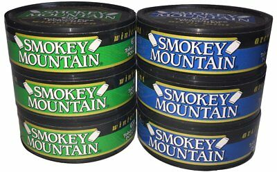 Smokey Mountain Snuff - 6 Can Sampler Pack (Arctic Mint Pouches + Wintergreen