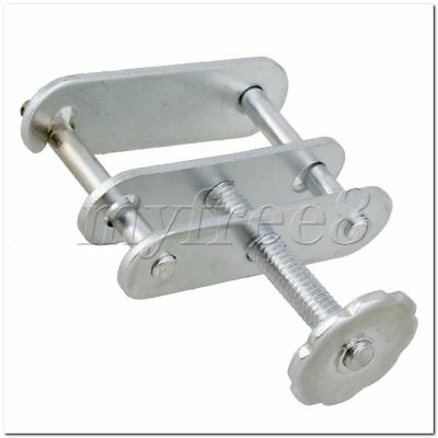 2Pieces 3.5cm Long Silver Screw Tubing Clamp Closed For Lab Experiment Hose Seal