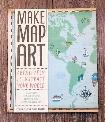 Anthropologie MAKE MAP ART Design Kit by Nate Padavick & Salli Swindell NEW