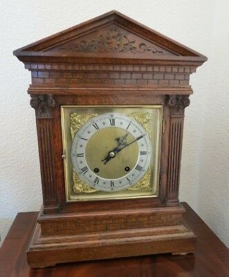 8 Day Chiming Bracket Clock Made By Winterhalder & Hofmeier.  Good Timekeeper