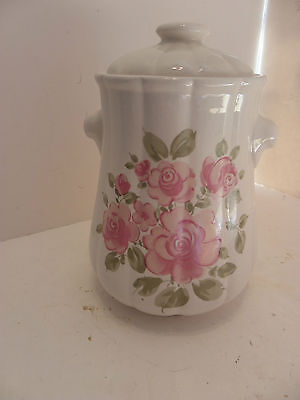 Vintage GIBSON ROSELAND PINK ROSE Small Canister China Dinnerware