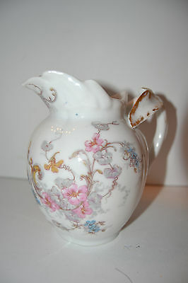 Vintage LIMOGES GUERIN ANTIQUE HAND PAINTED France Pitcher Creamer Flower Floral