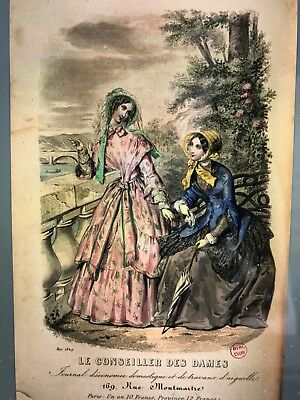 French CONSEILLER DAMES SEWING PATTERN May 1849 Mantelet  - broderie