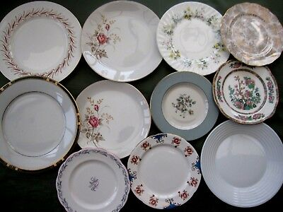 Lovely Selection Of Vintage China Mismatch Dinner & Salad/luncheon Plates