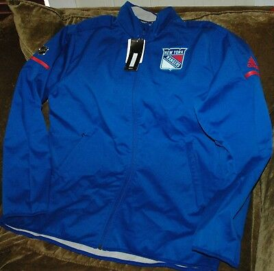 795da55722d New York Rangers jacket! Adidas bonded rink Men s Large NEW with TAGS! NHL  2018