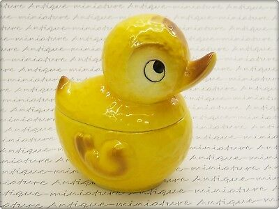 alte GOEBEL PORZELLAN OSTERENTE DOSE * old porcelain candy tin box DUCK ENTE