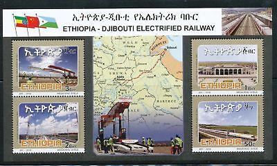 Ethiopia 2018 Addis Ababa Djibouti electrified railway MNH mini sheet