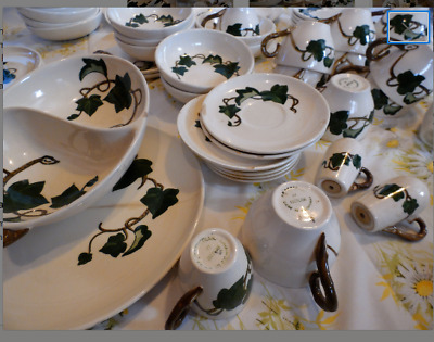 Metlox Poppytrail Poppy Trail California Ivy 63 Pcs Dinner Platter Cereal Bowls