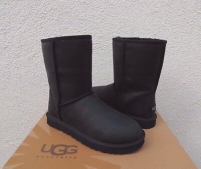 b42f367a8f6 UGG CLASSIC SLIM MICHELLE LEATHER BOOT 5.5US BLACK Water Resistant ...