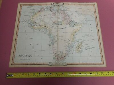 100% Original Large Africa  Map By Cruchley C1841 Original Colour Cape Town