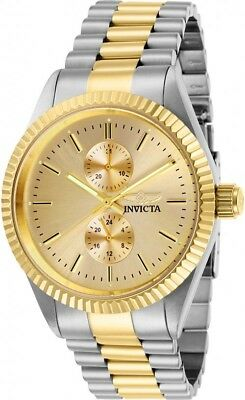 Invicta Men's Specialty Quartz Gold Dial Two Tone Stainless Steel Watch 29426