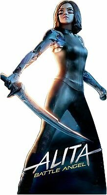 "Alita Battle Angel Anime 66"" tall Lifesize CARDBOARD CUTOUT Standee Standup"