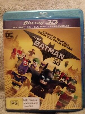 The Lego Batman Movie  Blu Ray 2D &3D  New/unsealed Region Free Cheapest On Ebay