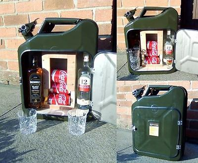 jerry can bar /mini bar/ camping / drinks carrier / stag / man cave army