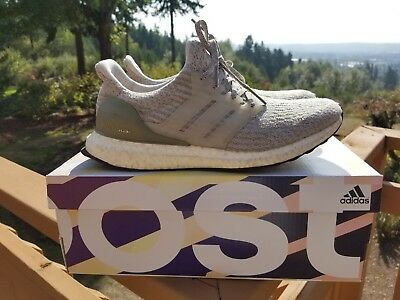 Details about New Adidas Ultra Boost 3.0 Pearl Grey Trace Cargo BA8847 Olive Cream