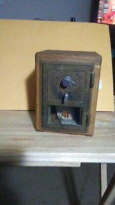 Vintage Brass Post Office  Mail box Door Bank