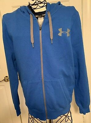 00c86b01 NWOT MENS UNDER Armour full zip Storm cold gear hoodie red size M ...