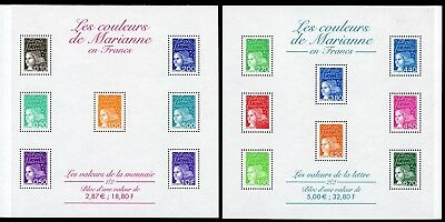 France Scott #2602a-2603a MNH S/Ss Marianne The Colors of Marianne CV$26+