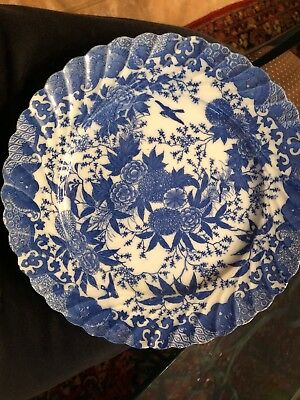 Vintage Oriental Blue and White Plate