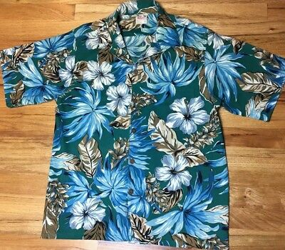 848de4ad VINTAGE 1960S GO BAREFOOT IN PARADISE Hawaiian Shirt Large Tall surf ...