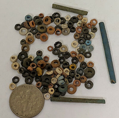 More than a Hundred 2500 Year old Ancient Egyptian Faience Mummy Beads (K4566)