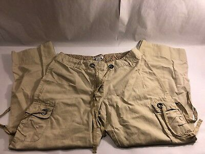 White House Black Market Off White Cream 12 Cargo Pants New