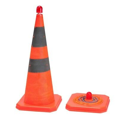 Safety Cone Collapsible Traffic Cones Orange Reflective Parking Road Emergency