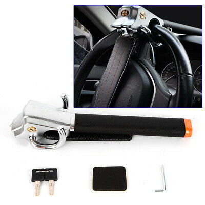 Foldable Vehicle Car Safety Steering Wheel Security Lock+2 Key Anti Theft Device